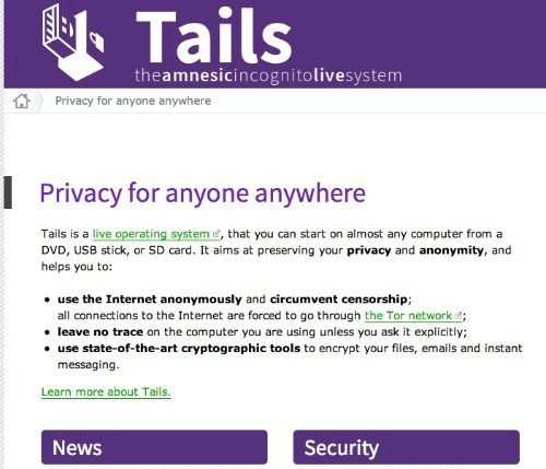 linux distro for security, tail Linux OS
