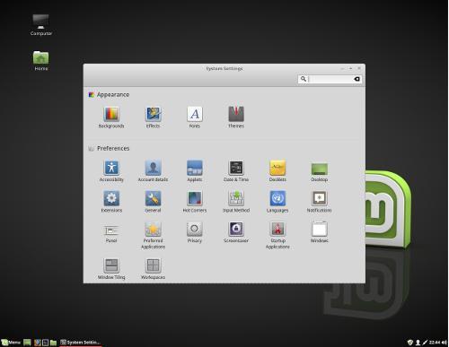 linux Mint configure