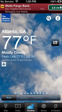 The Weather Channel iPhone 5 app
