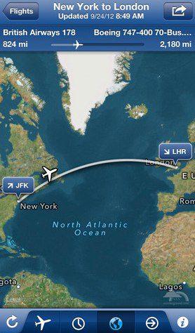 FlightTrack iPhone 5 app