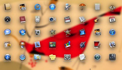 Mac OS Lion launchpad