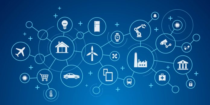 An Internet of Things (IoT) network.