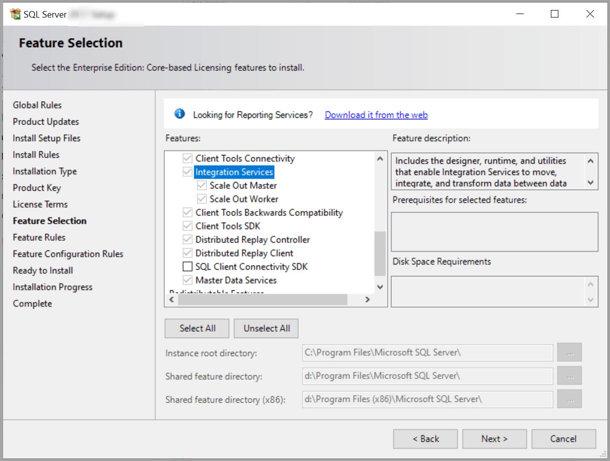 Microsoft SQL Server Installation Wizard.